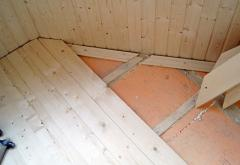 Laying of a board on a floor