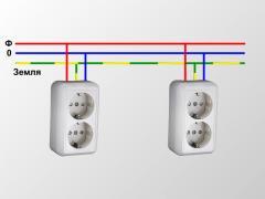 Подключение розеток, включателей, приборов освещения