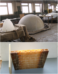 Production of fiberglass design