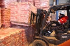 Доставка цемента в мешках на паллетах Николаев Украина