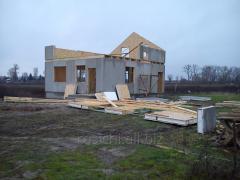 Строительство домов, коттеджей из оштукатуренных