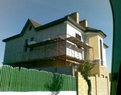 Утепление фасадов зданий пенопластом и минеральной