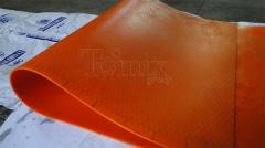 Covering of floors polyurethane sheets for