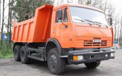 Services of construction equipment, the truck