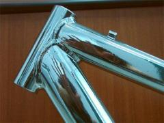 Chromium plating of bicycle details
