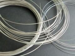 Silvering of a wire