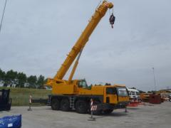Rent of the truck crane 90, 100 of tons
