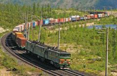 Transportation of a load by rail