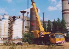 Демонтаж инженерных конструкция на резервуарах для