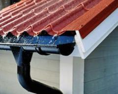 Монтаж водосточных систем на дом(крышу)в Херсоне. Недорого.