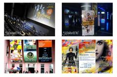 Advertizing at movie theaters of Kiev.