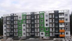 Окраска фасадов жилых домов методом промышленного альпинизма
