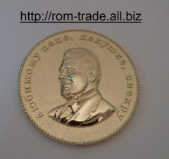Coins from gold with portrai
