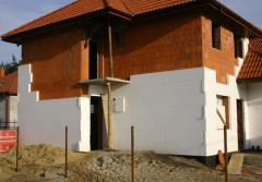 Thermal insulation of facades expanded polystyrene