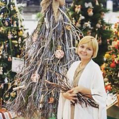 New Year's design of fir-trees. Winner of