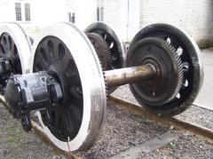 Ремонт колесных пар с тепловоза ЧМЕ3