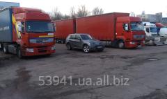 Услуги грузоперевозки автомобильные 20 тонные машины тент 120 кубов