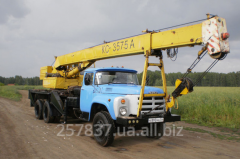 Rent of the KS 3575 10 truck crane of tons
