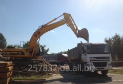 Services of dump trucks