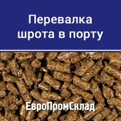 Transfer of meal in Dnepro-Bugsky seaport