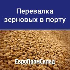 Перевалка зерновых в Днепро-Бугском морском порту (г. Николаев)