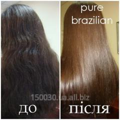 Кератиновое восстанавление и выпрямление волос Pure Brazilian в Львове
