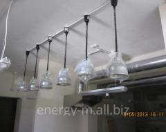 Установка осветительных приборов в кафе
