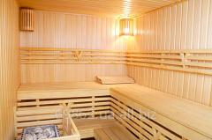 Installation of a sauna