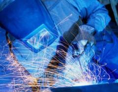 Manual electric welding