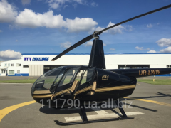 Flight by Robinson R44 helicopter