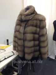Fur coat to order from fur of a marten