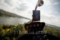 Обучение пилотированию вертолета Robinson....