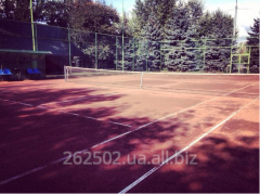 Services of tennis courts on the Trukhanovy island