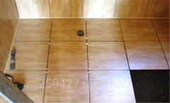 Laying of a tile