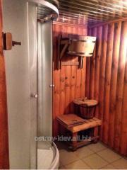 Sauna in hotel on the Trukhanovy island