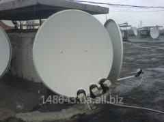 Установка спутникового ТВ, комплекты спутникового телевиления