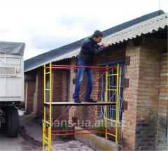 Scaffolding (goats) for ren
