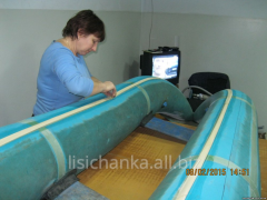 Repair of inflatable rubber boats
