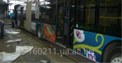 Obkleyka of public transpor