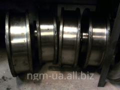 Naplavka of crane wheels, brake pulleys, shaft,