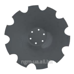 Naplavka of disks of cultivators of farm vehicles