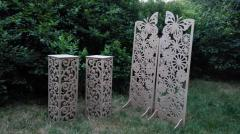 Production of openwork and carved interior decors,