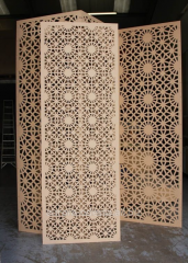 Production of openwork and carved interior decors