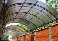 Изготовление и монтаж навесов из поликарбоната
