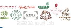 The logo press on a napkin 17х17