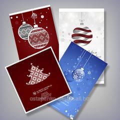 Дизайн новогодних и рождественских открыток 2016