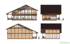 Проекты, разработки, чертежи домов деревянных