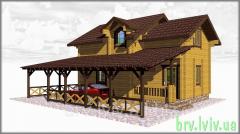 Проектирование, строительство домов из дерева, дома деревянные в Украине