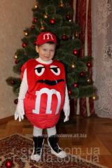Children's carnival costume red M & D