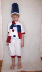 Children's suit of snowman